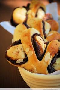 65°C TangZhong Nutella Buns