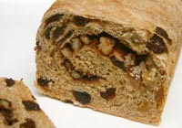 Cinnamon Raisin Bread, part whole grain