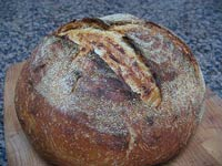 Levain Bread with Caramelized Onions