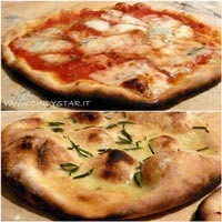 pizza in wood-fired oven
