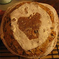 Apple Walnut sourdough