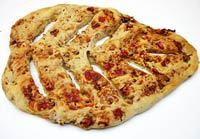 Red Bell Pepper,Walnut & Gouda French Fougasse