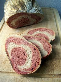 marbled beet bread