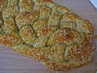 Wheat Germ and Sesame Six-Strand Braid