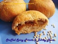 Stuffed Spicy Potato & Barley Buns
