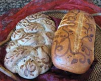 Painted decorative Breads