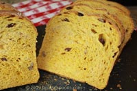 Pumpkin Raisin Walnut Bread