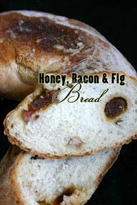 Honey, fig and bacon bread