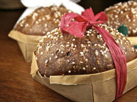 Chocolate Panettone Baked in Origami Baskets