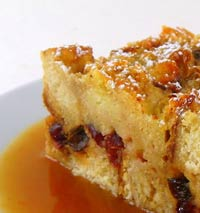 Cranberry Bread Pudding with Orange Hard Sauce