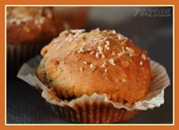 Rhubarb, ginger & honey muffins