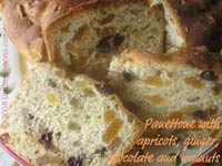 Panettone with Ginger, Apricots, Choc Chips, Nuts