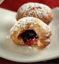 Blueberry & Raspberry Jelly Doughnuts