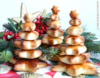 tiny bread christmas trees